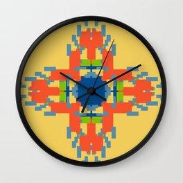 Sunny Geometric Flame Flower Wall Clock