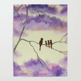 A Mothers Blessings, Birds in Tree Poster