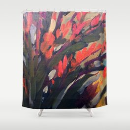 Vibrant Flower Abstract Shower Curtain
