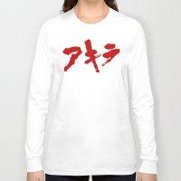 akira Long Sleeve T-shirts featuring Akira Grafitti by InvaderDig