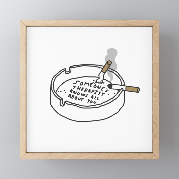 Therapy Tray Framed Mini Art Print