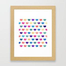 Colorful Cute Hearts III Framed Art Print