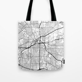 Fort Worth Map White Tote Bag