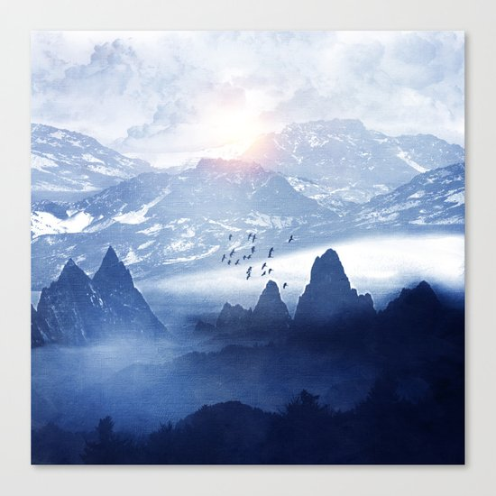 Winter. Melody... Canvas Print