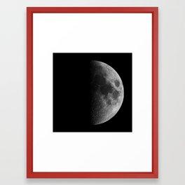 First Quarter Moon Framed Art Print
