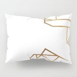 industrial golden glitters Pillow Sham