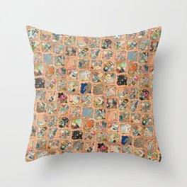 COPPER GRID SURPRISE Throw Pillow