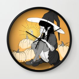 the gigantic witch and the little fairy Wall Clock