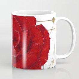 Metallic Accent Rose Coffee Mug