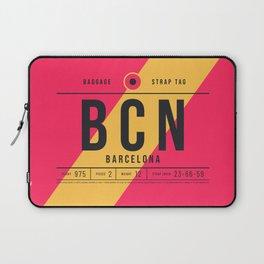 Luggage Tag E - BCN Barcelona El Prat Spain Laptop Sleeve