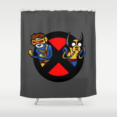Mutant Time Shower Curtain