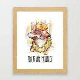 Deck the Hounds Framed Art Print