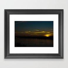 The Sun Paints with Light Framed Art Print