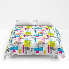 A piano pattern Comforters