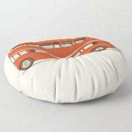 Double-Decker London Bus Floor Pillow