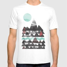 Ascend... White Mens Fitted Tee SMALL