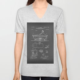 Rocking Oscillating Bathtub Patent Engineering Drawing Unisex V-Neck
