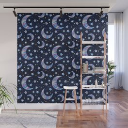 Moon & Stars Wall Mural