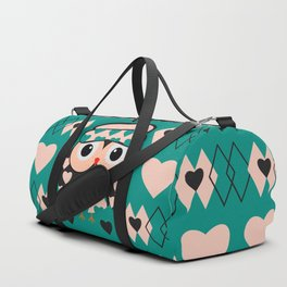 Owl and heart pattern Duffle Bag