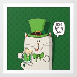 Irish cat Art Print