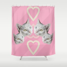 Cat Pink Trip Shower Curtain