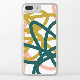 Abstract Lines 02A Clear iPhone Case