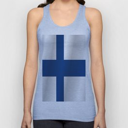 Flag of Finland Unisex Tank Top