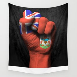 Bermuda Flag on a Raised Clenched Fist Wall Tapestry