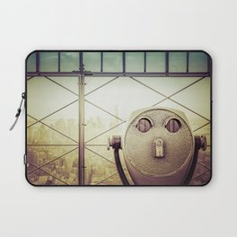 New York City Skyline Tourist Binoculars Laptop Sleeve