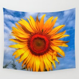 Blooming Sunflower  Wall Tapestry