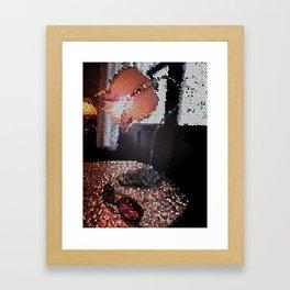 Lamplight of solitude Framed Art Print