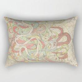 River Cartography Rectangular Pillow