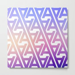 "Typographic Pattern ""A"", Color Metal Print"