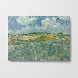 Plain at Auvers with rain clouds Metal Print