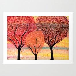 Autumn Shelter Art Print
