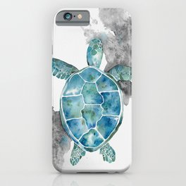 Bright Turtle in watercolor iPhone Case