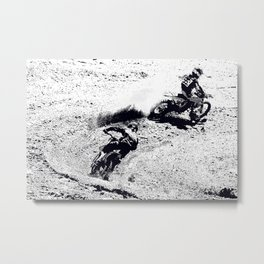 The Chase is On - Motocross Racers Metal Print