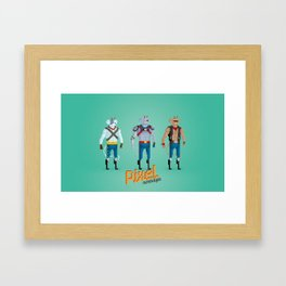 Biker Mice from Mars - Pixel Nostalgia Framed Art Print