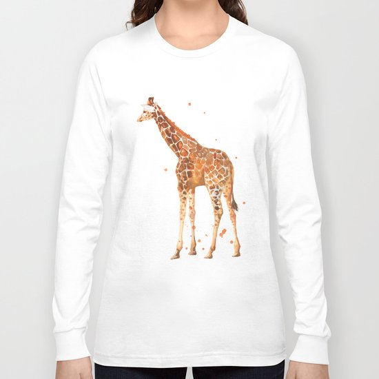 giraffe, african animals, wildlife, cute baby giraffe, nursery animals, safari Long Sleeve T-shirt