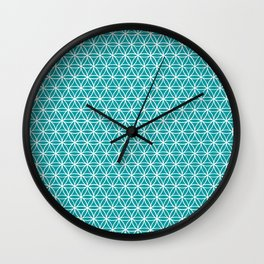 Flower of Life Pattern: Teal Wall Clock