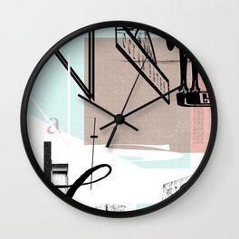 Newcastle Baths Wall Clock