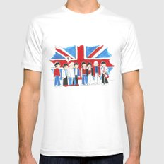 Les Petits Great Britain MEDIUM White Mens Fitted Tee