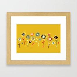 doodle flowers Framed Art Print