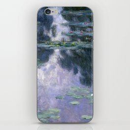 Water Lilies (Nympheas) by Claude Monet, 1907 iPhone Skin