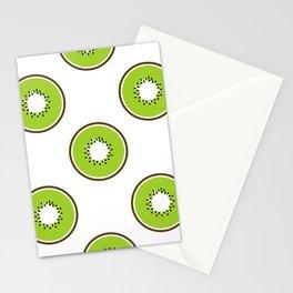 Kiwi summer fruit Stationery Cards