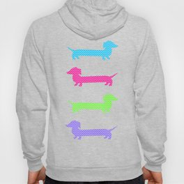 Chevron Dachshunds Hoody