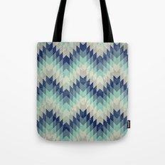 Chevron pattern_Blue Tote Bag