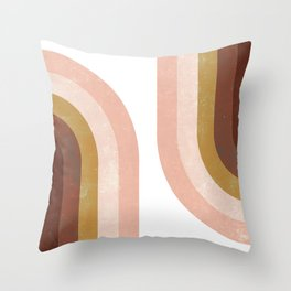Double Vintage Rainbow Throw Pillow