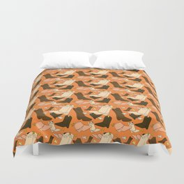 Boots, boots and more boots Duvet Cover