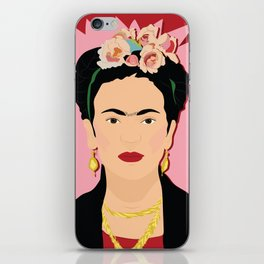 Frida Khalo (Red) | Bad Ass Women Series iPhone Skin